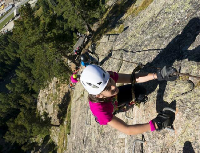 Klettersteig La Resgia : Klettersteig livigno
