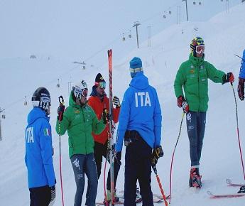 Livigno News THE ITALIAN NATIONAL SKI TEAM AT CAROSELLO 3000 LOOKING...