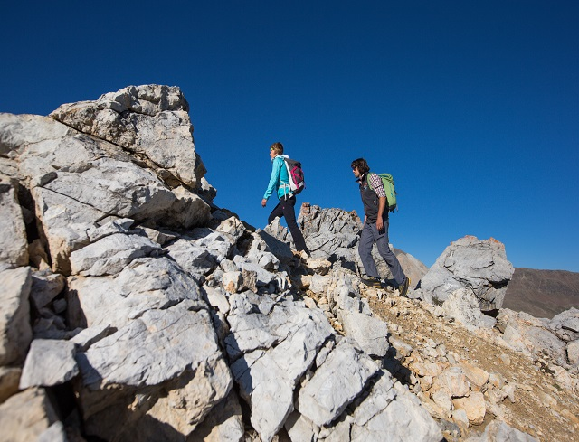 Livigno Family&Kids FIXED-ROPE CLIMB TO PIZ TROVAT at 3146m.