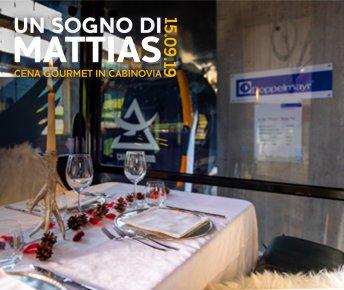 Livigno News MATTIAS' DREAMS - ENJOYING A GOURMET DINNER IN A CABLE CAR