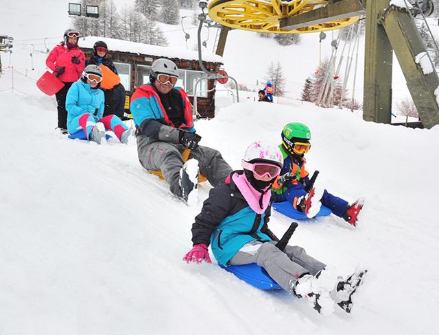 Livigno Family&Kids PISTA PER SLITTINI -  Skilift San Rocco